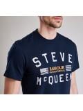 Barbour International Steve McQueen Logo T Shirt In Navy - MTS0437NY91