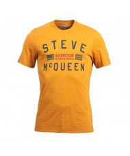Barbour International Steve McQueen Logo T Shirt In Copper - MTS0437NY91