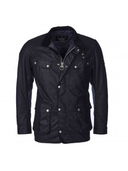 Barbour International Duke Wax Jacket In Navy - MWX0337NY91