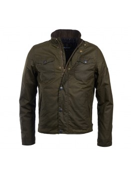 Barbour International Hatch Wax Jacket In Olive - MWX1404OL99