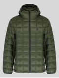 Luke Southy Quilted Jacket In Khaki Green