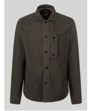 Luke 1977 Moleskin Long Sleeve Over Shirt In Khaki - M450910