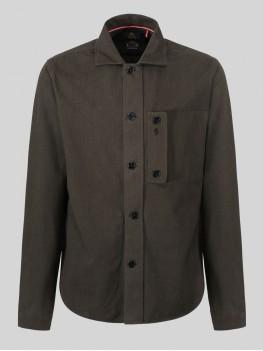 Luke 1977 Moleskin Long Sleeve Over Shirt In Khaki - M450910