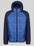 "Luke ""Roundy"" Navy Quilted Jacket With Block Panneling - M450751"