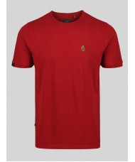 "Luke ""Traffs"" Crew Neck T-Shirt In Deep Red - ZM280165"