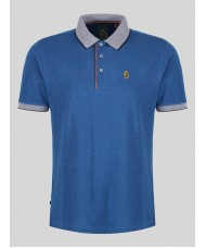 "Luke  ""Whittle"" Short Sleeve Polo In Navy  - M451454"