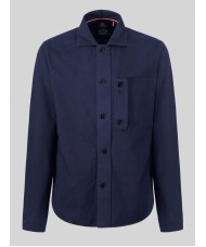 Luke 1977 Moleskin Long Sleeve Over Shirt In Navy Blue - M450910