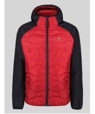 Luke Sport Roundy jacket quilted Jacket with colour block panelling - Red & Black