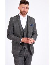 Marc Darcy 'Scott' - Grey Tweed Check Blazer